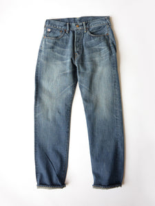Aihiko 0815 Denim in Indigo Distress