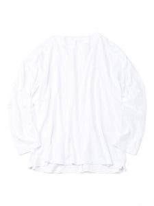 Zimba Cotton Long Sleeve Ocean T-shirt in white