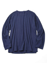 Zimba Cotton Long Sleeve Ocean T-shirt in purple navy