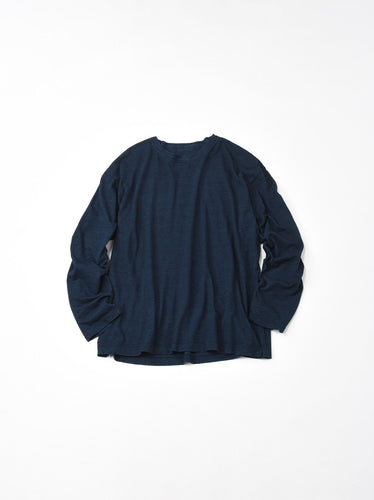 Indigo Zimba Cotton Long Sleeve Ocean T-shirt in indigo (S)