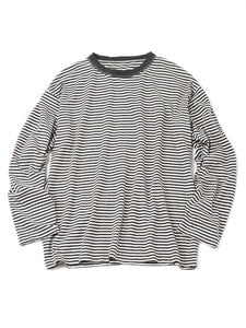 Zimba Cotton Border Stripe Ocean T-Shirt in white and black border