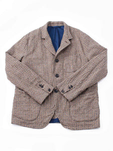 Cotton Tweed Asama Jacket in beige guncheck