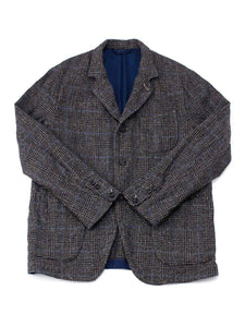 Cotton Tweed Asama Jacket in green glen check