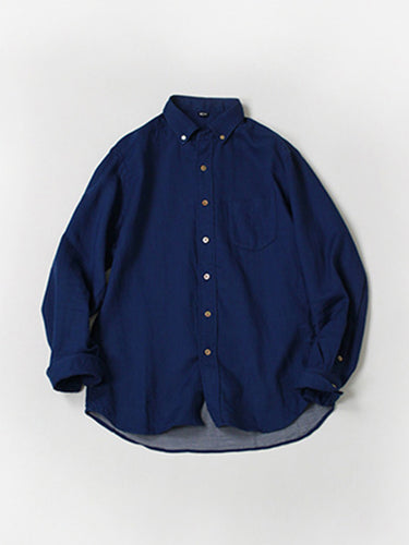 Double Cloth Small Collar Button Down Shirt