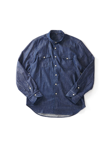 Goma Denim Stand Eastern Shirt in Indigo