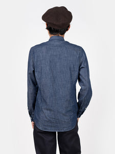 Cotton Linen Denim Stand Collar Eastern Shirt