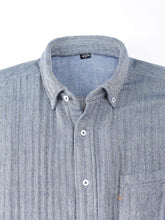 Indian Double Woven Cotton Flannel Ocean Button Down Shirt