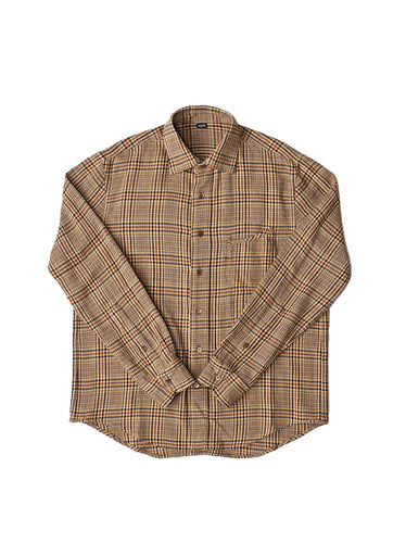 Indian Cotton Thin Flannel Regular Shirt in beige