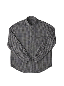 Indian Cotton Thin Flannel Regular Shirt in grey