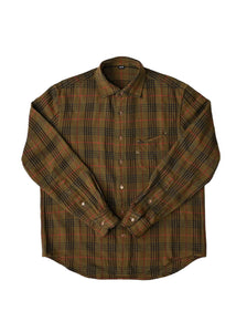 Indian Cotton Thin Flannel Regular Shirt in khaki