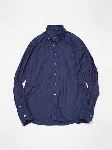 Indigo Two Ply Button Down Shirt