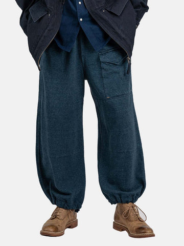Indigo Loop Wheel Urake Tent Pants
