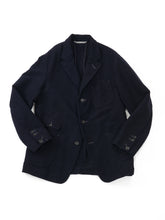 Cotton Flannel Jacket in Navy