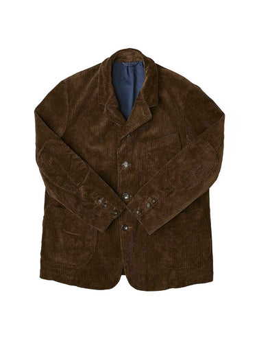 Selvedge Corduroy Cotton Hayama Jacket in brown