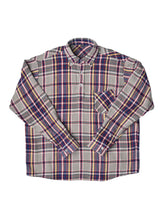Indian Cotton Flannel Ocean Button Down Shirt in grey