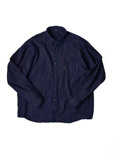 Goma Denim Cotton Small Collar Ocean Shirt