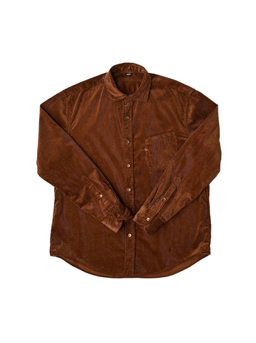 SA Corduroy Regular Shirt in brown