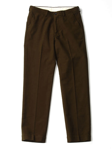 Mole Serge Stretch Easy Slacks Pants in Brown