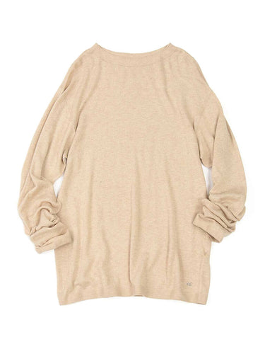 Super Gauze Crew Neck in Beige