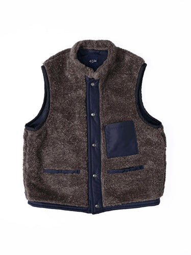 Boa x Nylon Vest in navy