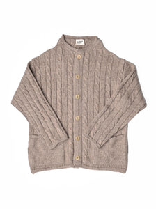 45 Star Cashmere Cable Umahiko Cardigan in beige