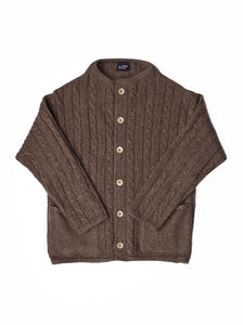 45 Star Cashmere Cable Umahiko Cardigan in brown