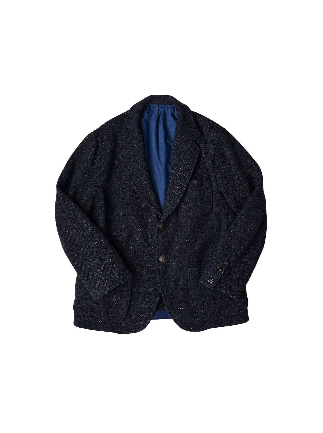 Indigo Tweed Melton Wool Asama Jacket in indigo