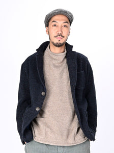 Indigo Tweed Melton Wool Asama Jacket