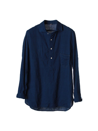 Ai Khadi Denim Pullover Shirt