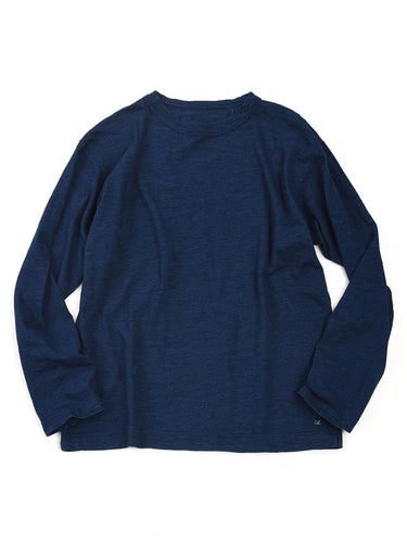 Indigo 45 Star Long Sleeve T-Shirt in Indigo
