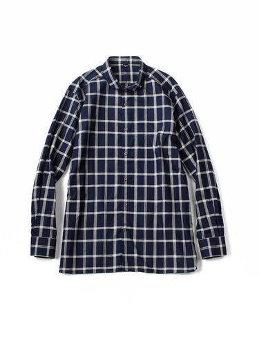 Indigo Oxford 908 Round Collar Shirt