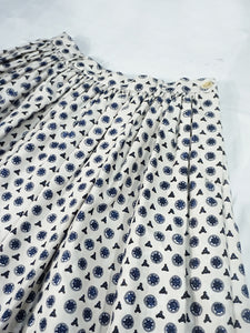 Cricket Satin Komon Print Skirt