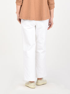 Okome Cotton White Charlotte Denim Pants