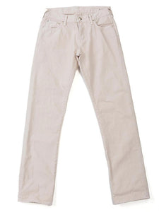 Garment Dye 5 Pocket Denim in Vintage White
