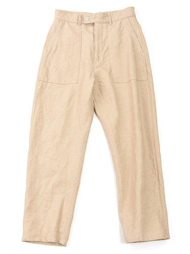 Linen Duck 908 Baker Pants in Linen White
