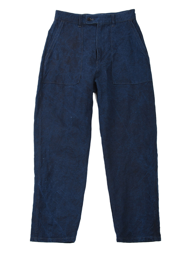 Indigo Linen Duck 908 Baker Pants in Indigo