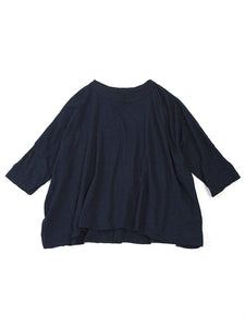 Indigo Zimba Super Gauze Big T-Shirt in Indigo