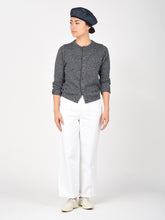 Women's Indigo Cotton Knit Super Gauze Cardigan