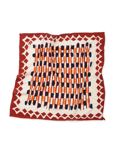 Fuwa-Fuwa Tenjiku Basket Bandanna in Red
