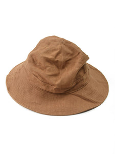 Linen Duck Hat in Camel