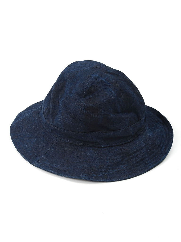 Indigo Linen Duck Hat in Indigo