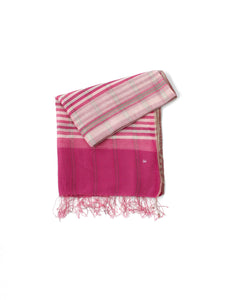 Khadi Silk Check Stole