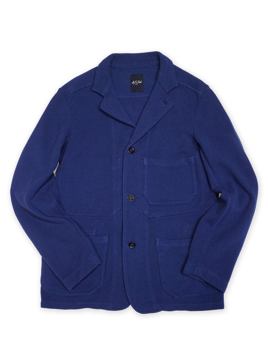 Pique Jacket in Navy