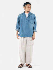 Cotton Linen Denim 908 Pull Shirt