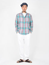 Unisex Double Woven Cotton Madras Shirt