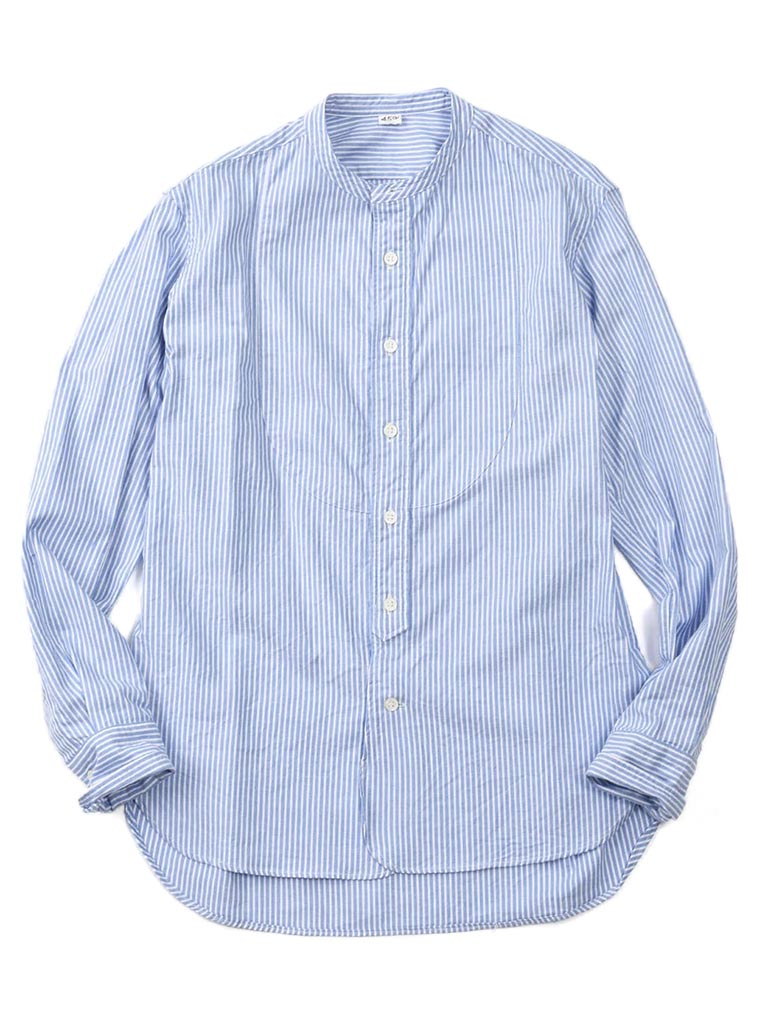 Oxford Stand Collar Shirt in London Stripe