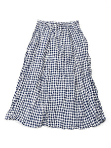 Gingham Skirt in Navy