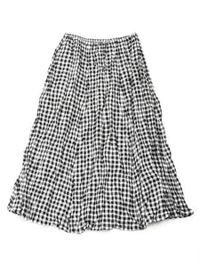 Gingham Skirt in Black