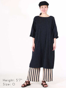 Biaude Indigo Hickory Tent Dress