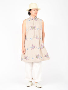 Women's Cotton Linen Jacquard Sleeveless Tunic